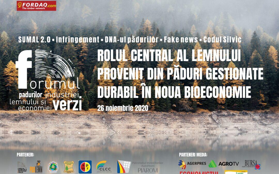 Forumul Pădurilor, Industriei Lemnului și Economiei Verzi – 26 noiembrie 2020
