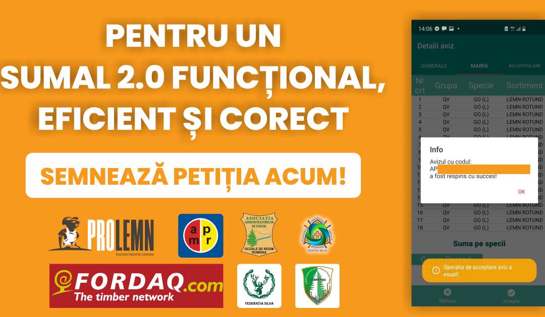 Petiție pentru un SUMAL 2.0 funcțional, eficient și corect